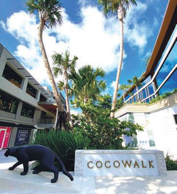 The entrance to the renovated CocoWalk COCOWALK PHOTO COURTESY OF THE PROPERTY