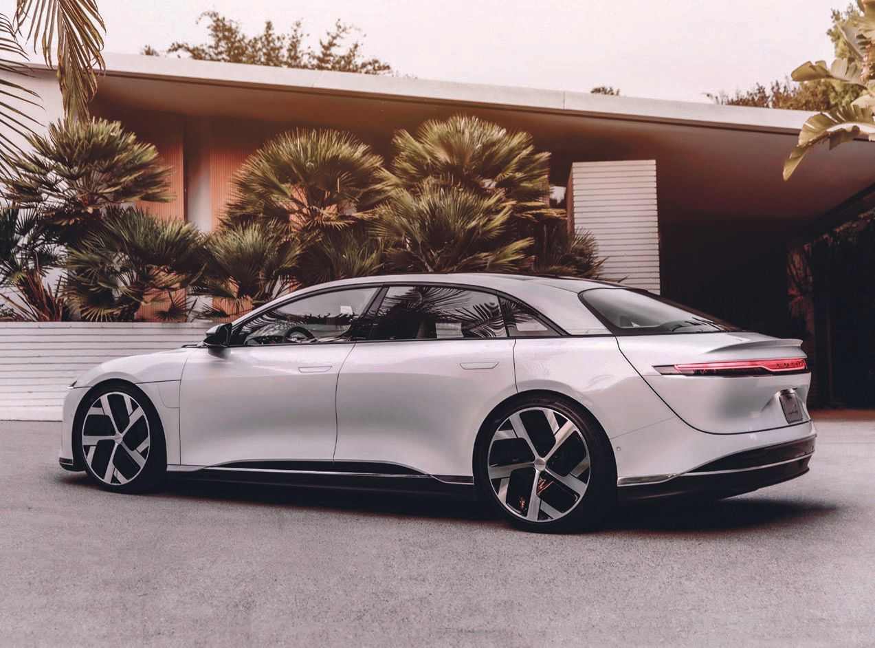 Lucid Motors' Dream Edition Lucid Air Pure model CAR PHOTO COURTESY OF LUCID MOTORS