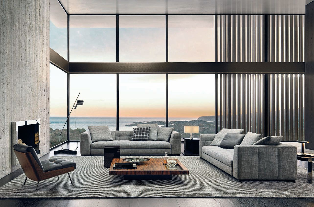 A vignette featuring the Blazer collection from Minotti PHOTO COURTESY OF THE SHOWROOMS