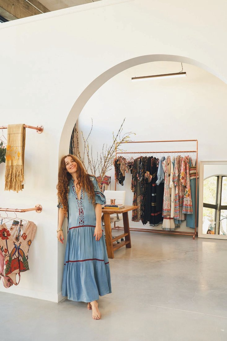 Designer Carolina Kleinman at her new lifestyle store, Carolina K PHOTO BY TATO GOMEZ/COURTESY OF CAROLINA K