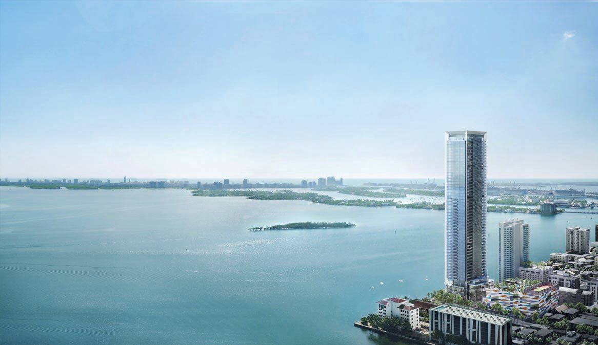 Missoni Baia in Edgewater will face Biscayne Bay PHOTO COURTESY OF THE PROPERTIES